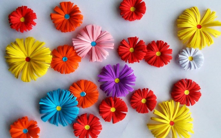 How to make a paper flower craft as home décor