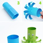 Octopus Toilet Paper Roll Craft Octo How To