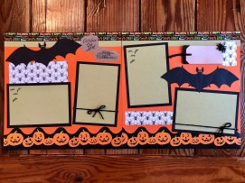 Ornaments to Apply on Halloween Scrapbook Pages Premade Halloween Scrapbook Layout Two Page Layout Halloween Scrapbooking Halloween Scrapbook Pages Halloween Decor 12 X 12 Pages