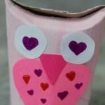 Owl Craft Toilet Paper Roll Cute Owl Valentines Day Toilet Paper Roll Craft owl craft toilet paper roll|getfuncraft.com