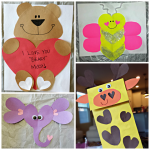 Paper Bag Valentine Crafts Heart Shape Animal Crafts For Valentines Day