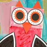 Paper Bag Valentine Crafts Paper Bag Valentine Owl Kid Craft 2