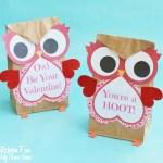 Paper Bag Valentine Crafts Valentine Owl Paper Treat Bag Free Printable Valentines Day Craft 5 680x597