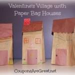 Paper Bag Valentine Crafts Valentines Village With Paper Bag Houses