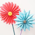 Paper Craft For Kids Flowers Accordionpaperflowers Main
