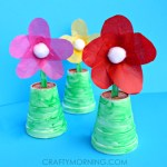 Paper Craft For Kids Flowers Craftymorning
