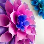 Paper Craft For Kids Flowers Dahlia Flower Wreath paper craft for kids flowers|getfuncraft.com