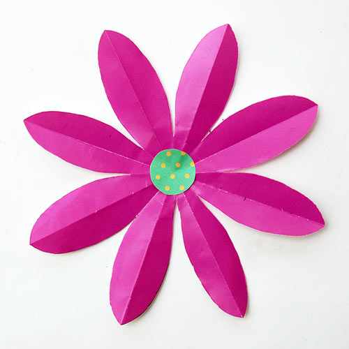 Paper Craft For Kids Flowers Foldingpaperflowers 8petal Step8 paper craft for kids flowers|getfuncraft.com
