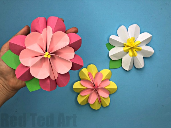Paper Craft For Kids Flowers Paper Flower Diy paper craft for kids flowers|getfuncraft.com