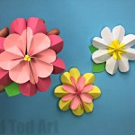Paper Craft For Kids Flowers Paper Flower Diy