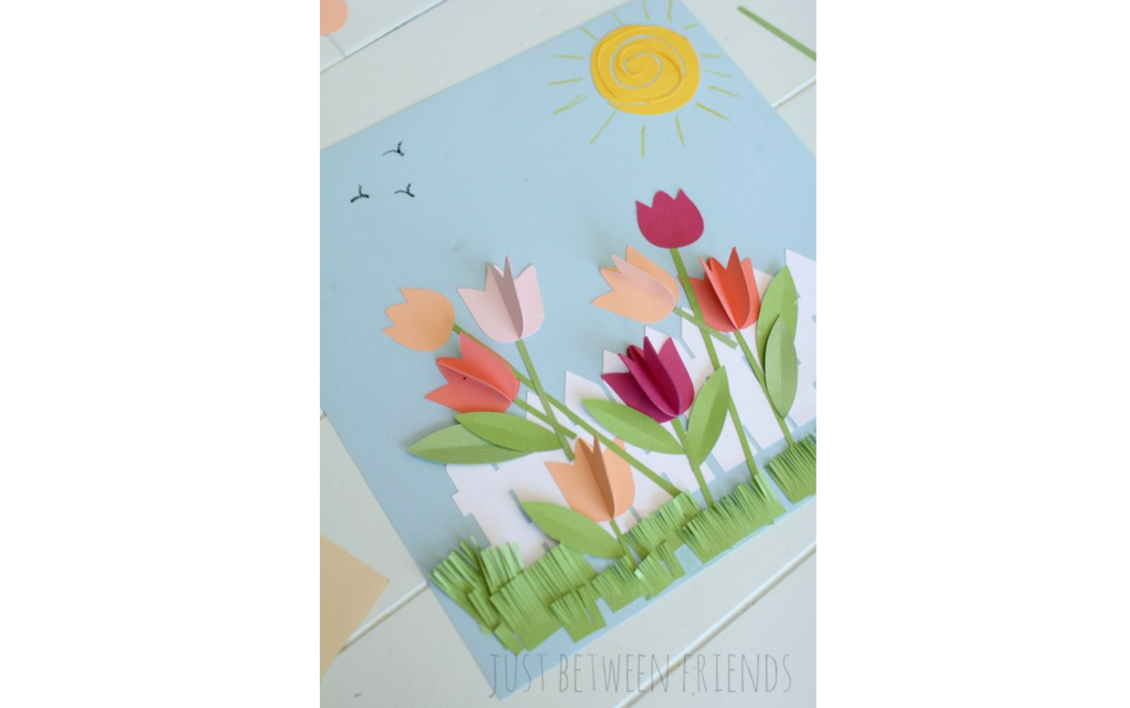Paper Craft For Kids Flowers Paper Flower Garden Landscape paper craft for kids flowers|getfuncraft.com