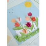 Paper Craft For Kids Flowers Paper Flower Garden Landscape