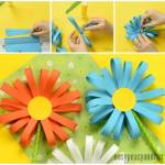 Paper Craft For Kids Flowers Simple Paper Flower Craft 1 paper craft for kids flowers|getfuncraft.com