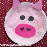 Paper Plate Pig Craft Paper Plate Pig Kid Craft 2