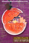 Paper Plate Thanksgiving Crafts Turkey Hiding In Pumpkin Kid Craft Gluedtomycrafts