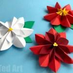 Paper Poinsettia Craft Paper Fan Flowers Poinsettia