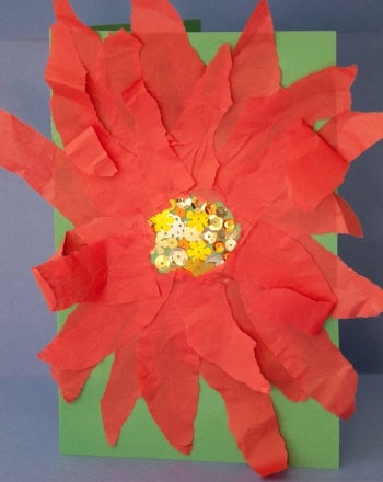 Paper Poinsettia Craft Paper Poinsettia 350x440 paper poinsettia craft|getfuncraft.com