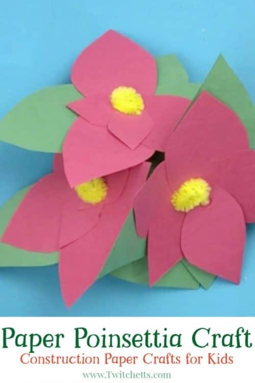 Paper Poinsettia Craft Paper Poinsettia Craft 500x750 paper poinsettia craft|getfuncraft.com