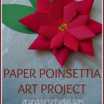 Paper Poinsettia Craft Paper Poinsettia Final paper poinsettia craft|getfuncraft.com