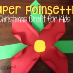 Paper Poinsettia Craft Poinsettia Final Sticker paper poinsettia craft|getfuncraft.com