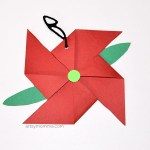 Paper Poinsettia Craft Poinsettia Ornament Craft paper poinsettia craft|getfuncraft.com