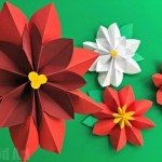 Paper Poinsettia Craft Poinsettia Paper Flower Diy paper poinsettia craft getfuncraft.com
