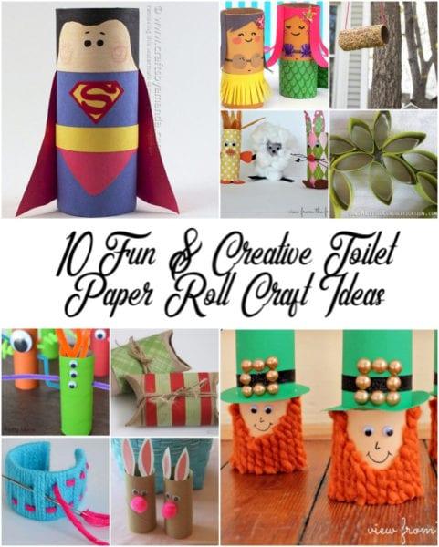 Paper Roll Craft Ideas 10 Fun Creative Toilet Paper Roll Craft Ideas From North Carolina Lifestyle Blogger Adventures Of Frugal Mom 1 1 paper roll craft ideas |getfuncraft.com