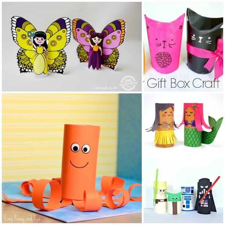 Paper Roll Craft Ideas 25 Paper Roll Crafts For Kids Facebook paper roll craft ideas |getfuncraft.com