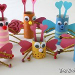 Paper Roll Craft Ideas Tp Roll Love Bugs For Valentines Day paper roll craft ideas |getfuncraft.com