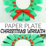 Paper Wreath Craft Paper Plate Christmas Wreath Craft Pin paper wreath craft getfuncraft.com