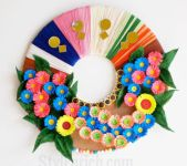 Paper Wreath Craft Recycled Material Paper Flower Wreath 58aca6145f9b58a3c956175f