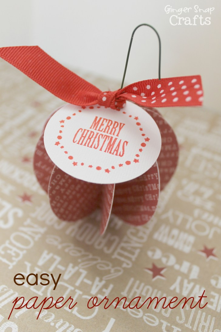 Simple and Easy Christmas Scrapbook Paper Crafts
