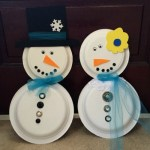 Snowman Paper Plate Craft How To Decorate A Paper Plate Snowman