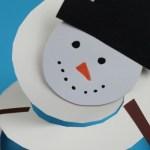 Snowman Paper Plate Craft Paper Plate Snowman Twirler Craft For Kids snowman paper plate craft|getfuncraft.com