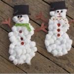 Snowman Paper Plate Craft Paper Plate Snowman With Cotton Balls snowman paper plate craft|getfuncraft.com