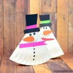 Snowman Paper Plate Craft Rocking Paper Plate Snowman Craft For Kids snowman paper plate craft|getfuncraft.com