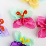 Tissue Paper Butterfly Craft Diy Butterfly Craft tissue paper butterfly craft|getfuncraft.com