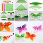 Tissue Paper Butterfly Craft Diy Easy Folded Paper Butterflies 3 tissue paper butterfly craft|getfuncraft.com