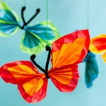 Tissue Paper Butterfly Craft Pipe Cleaner Tissue Butterfly 3 tissue paper butterfly craft|getfuncraft.com