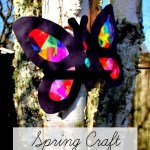 Tissue Paper Butterfly Craft Spring Craft For Kids tissue paper butterfly craft|getfuncraft.com