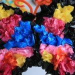 Tissue Paper Butterfly Craft Tissuebutterflies Jcurrie Completetissuefly