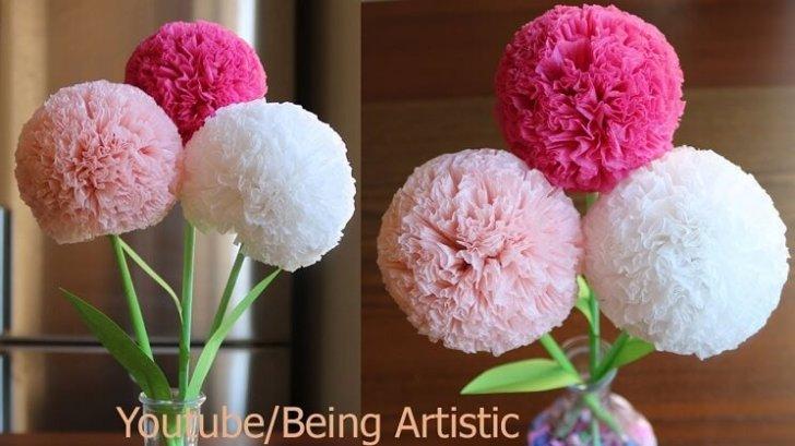 Tissue Paper Craft Flowers
