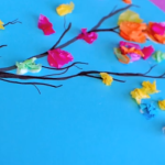 Tissue Paper Crafts Ideas Paint And Tissue Paper Spring Branches