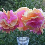 Tissue Paper Crafts Ideas Tissue Paper Flowers A