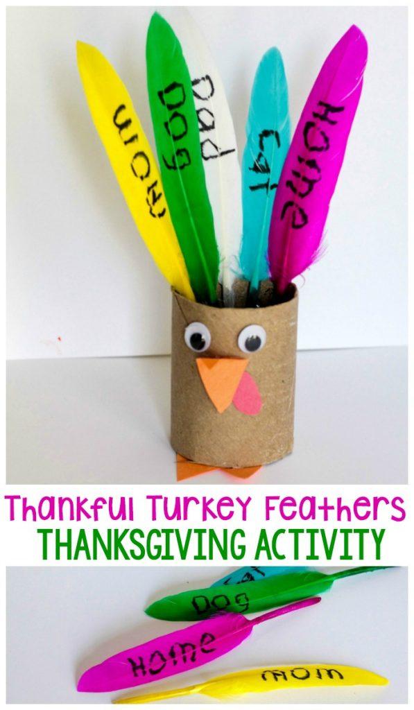 Tissue Paper Turkey Craft Thankful Feathers P tissue paper turkey craft |getfuncraft.com