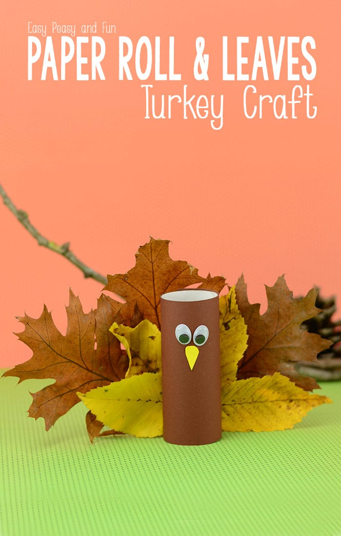 Tissue Paper Turkey Craft Toilet Paper Roll Turkey Craft With Leaves tissue paper turkey craft  getfuncraft.com