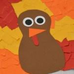 Tissue Paper Turkey Craft Torn Paper Turkey Craft tissue paper turkey craft |getfuncraft.com