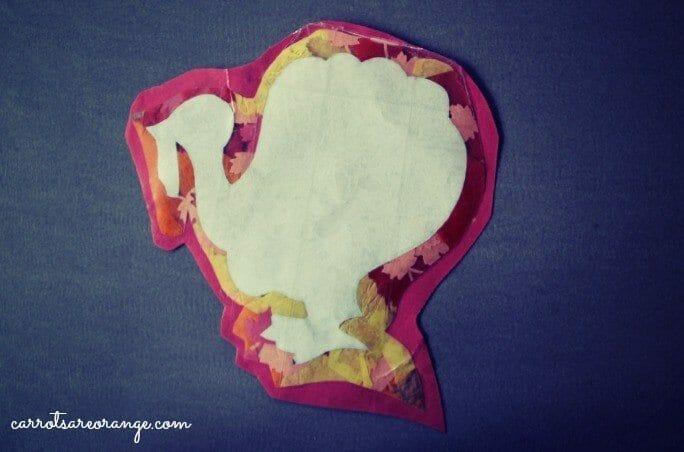 Tissue Paper Turkey Craft Turkey Craft Final tissue paper turkey craft |getfuncraft.com