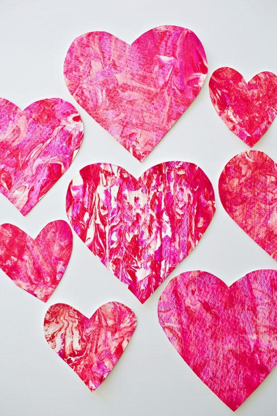 Valentine Paper Crafts Kids Shaving Cream Heart Art 25 Valentine Crafts For Kids E1515911064646 valentine paper crafts kids getfuncraft.com