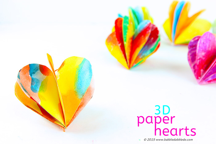 Valentine Paper Crafts Kids Valentines Day Craft 3d Paper Hearts Babble Dabble Do Fi valentine paper crafts kids|getfuncraft.com